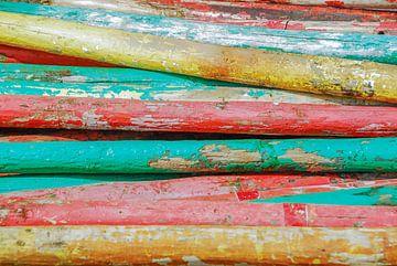 Gekleurde palen van