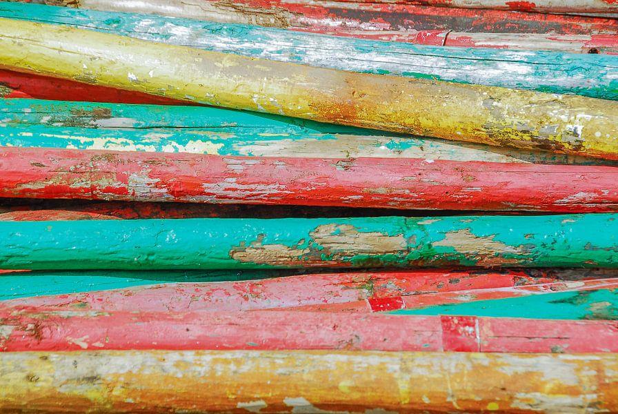 Gekleurde palen