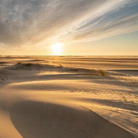 Sonnenuntergang am Strand von Zeeland von Peter Haastrecht, van