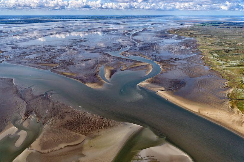 Waddenzee bij Schiermonnikoog van Roel Ovinge