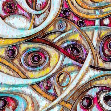 Abstrakte Kunst - Labyrinth