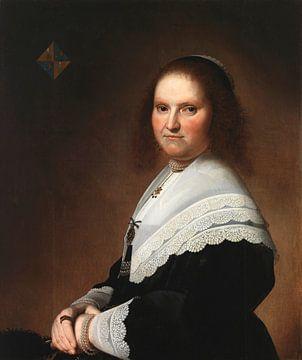 Portret van Anna von Schoonhoven, Johannes Cornelisz. Verspronck sur