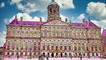 Palast auf dem Damm, Amsterdam von Digital Art Nederland
