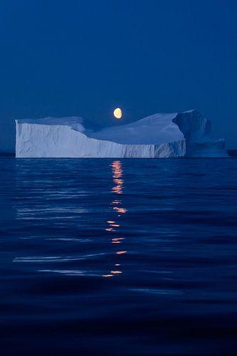 Moon over Greenland