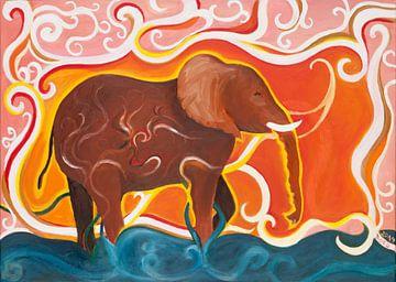 Elefantentraum van Dorothea Linke