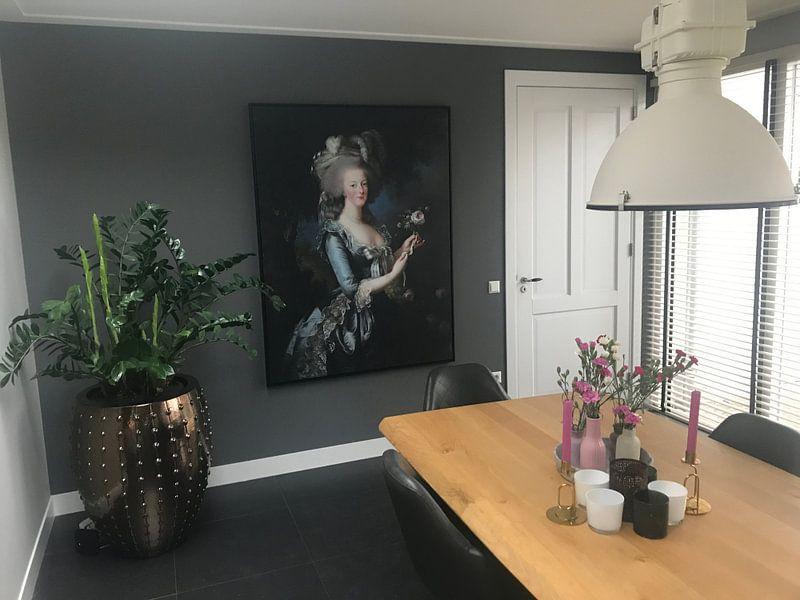 Photo de nos clients: Marie-Antoinette, Reine de France, Élisabeth Vigée-Le Brun sur Meesterlijcke Meesters, sur toile