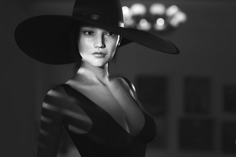 Film Noir portrait van Arjen Roos