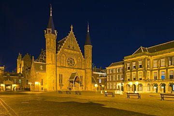 Photo de nuit du Binnenhof à La Haye sur Anton de Zeeuw