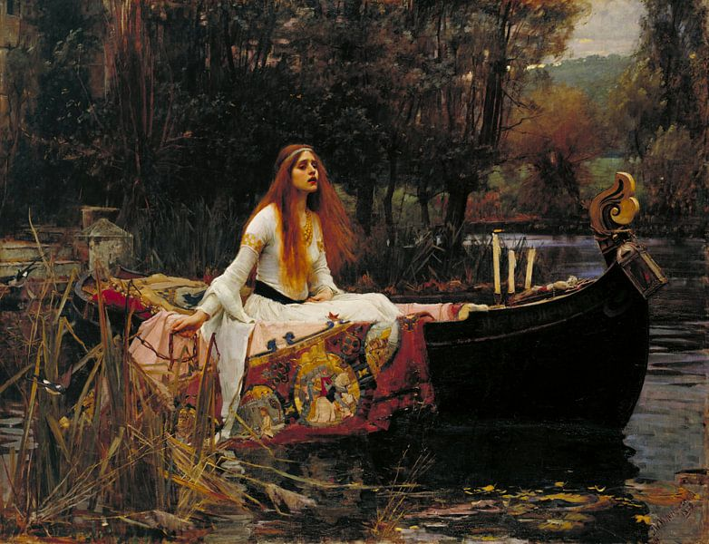 John William Waterhouse - The Lady of Shalott van 1000 Schilderijen