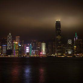 Hongkong skyline van Stephan van der Linde