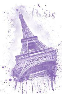 Eiffelturm Aquarell | violet