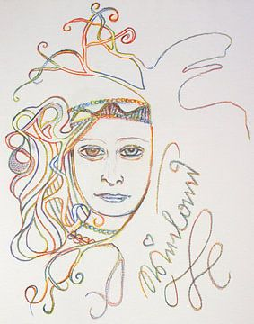 Muse im Jugendstil von Wieland Teixeira