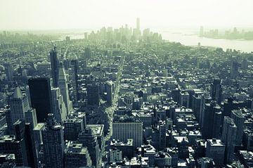 Luchtfoto van Manhattan, New York City van