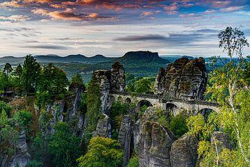 De beroemde Bastei brug van Frank Mannaerts