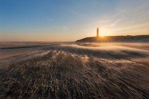 De vuurtoren van Texel op een koude wintermorgen