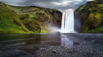 La cascade de Skógafoss en Islande sur Yvette Baur