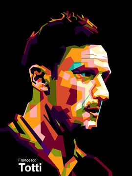 Francesco Totti wpap von miru arts