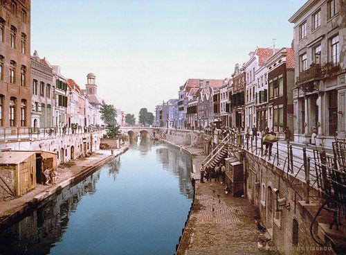 Oude Gracht en Viebrug, Utrecht von Vintage Afbeeldingen
