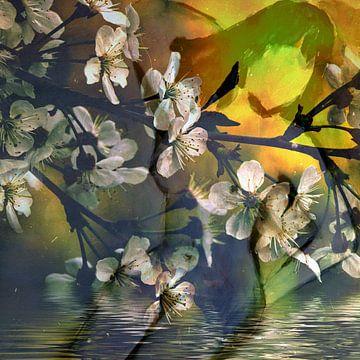 Bloemen naakt van Christine Nöhmeier