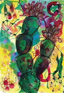 Cactus van Jolanda Janzen-Dekker