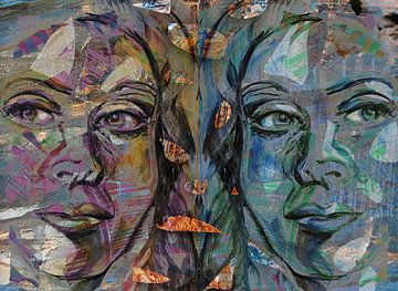 Mirrored Gesicht von Eva van den Hamsvoort