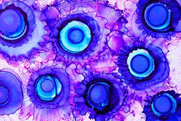 Blue Purple / Blauw paars Abstract van Joke Gorter