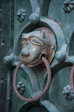 Klopper op de deur van San Marco Basiliek met leeuwenkop van Joost Adriaanse