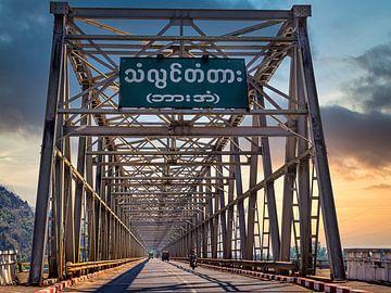 Myanmar - Hpa-An - Een stalen brug van Rik Pijnenburg