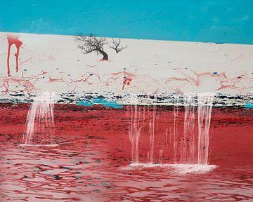 Landschaft mit Wasserfällen von Rietje Bulthuis