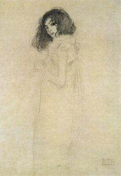 Portret van een jonge vrouw - Gustav Klimt