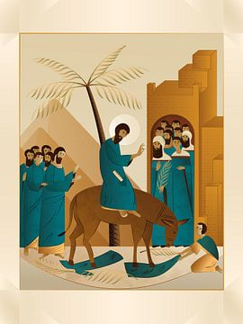 Zeitgenössische Ikone Psalmsonntag von Jedi Noordegraaf