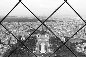 Het uitzicht op Palais de Chaillot in Parijs