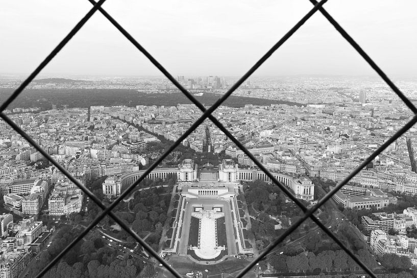 Het uitzicht op Palais de Chaillot in Parijs van MS Fotografie   Marc van der Stelt