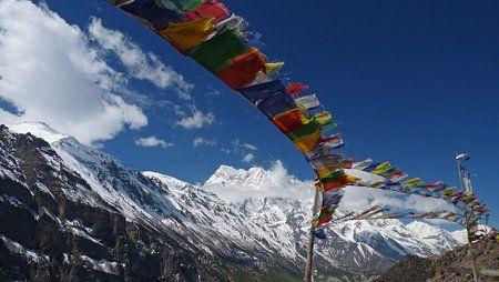 Gebedsvlaggetjes in Nepal