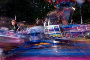 Kermis attractie Break Dance in Oosterhout, Noord Brabant, Holland, Nederland afbeelding van