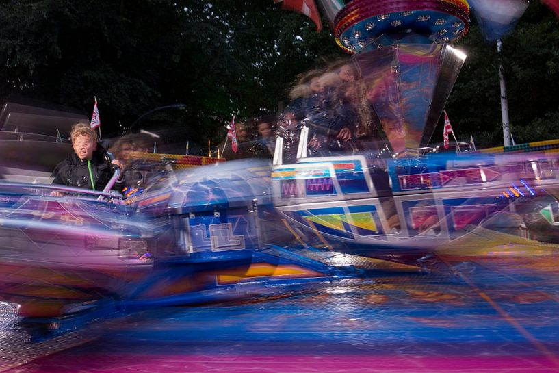 Kermis attractie Break Dance in Oosterhout, Noord Brabant, Holland, Nederland afbeelding van Ad Huijben