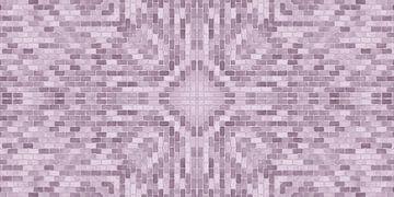 Roze stenenpatroon van Marion Tenbergen