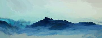 Blauw landschap van Angel Estevez