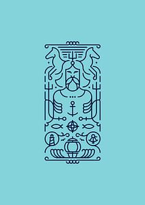Poseidon (blue) van