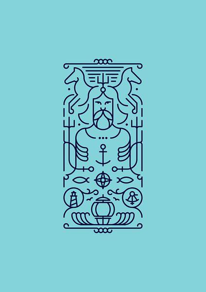 Poseidon (blue) van Rene Hamann
