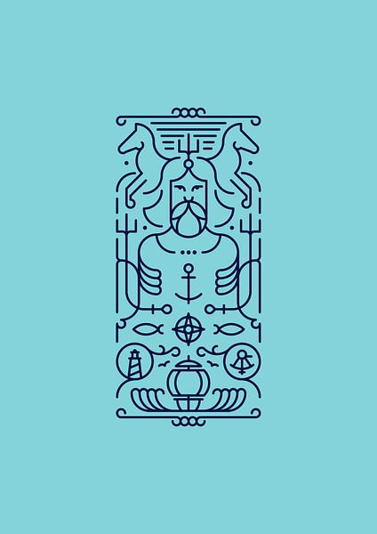 Poseidon (blue)