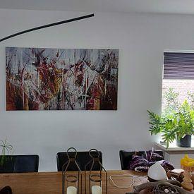 Kundenfoto: Einfaches Rot von Ria van Werven, auf leinwand