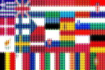 Vlaggen van de Unie 4: rasterpatroon van