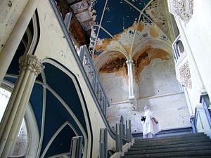 Bruid in kasteel van