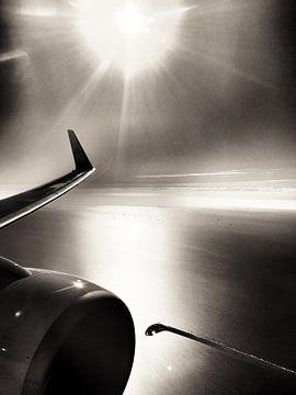 Vliegend over Zeeland van