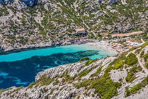Baai in de Calanques in de Provence, Frankrijk