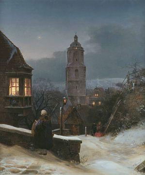 Ernst Ferdinand Oehme~Meissen im Winter