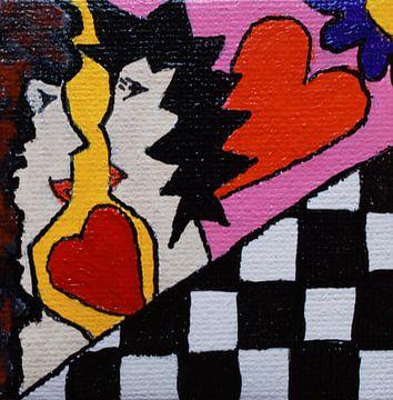 Liefde Mini-canvas van Angelique van 't Riet