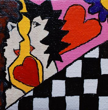 Liefde Mini-canvas von Angelique van 't Riet