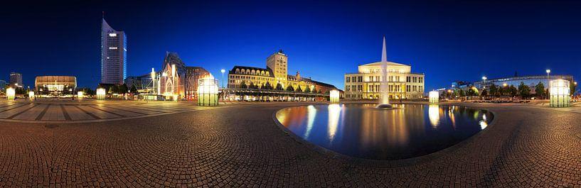 Leipzig - Panorama de l'Augustusplatz sur Frank Herrmann